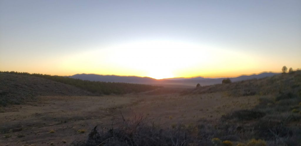 Sunset over the trail